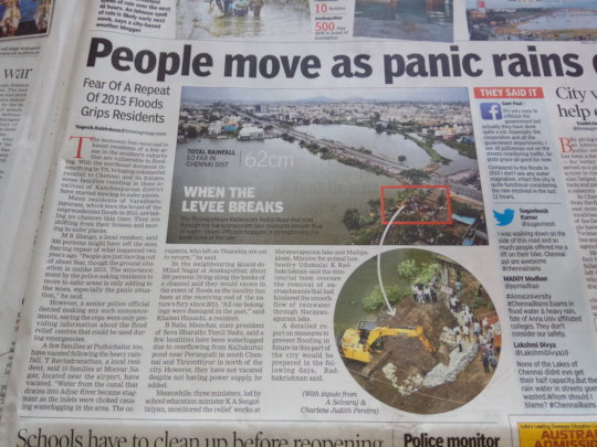 Reports on impending disaster in Chennai