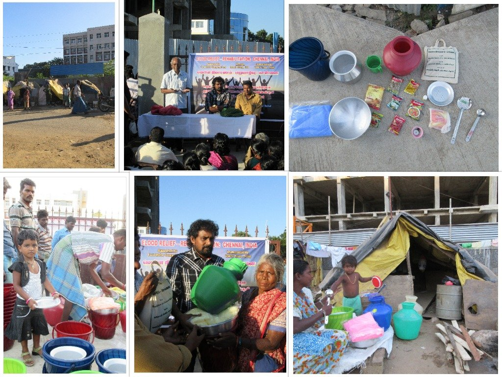 Relief packages given in Ekkattuthangal area