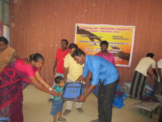 School Children given school bags
