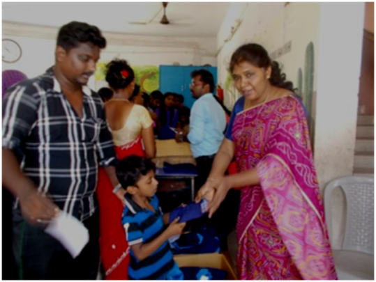Distribution of school uniforms