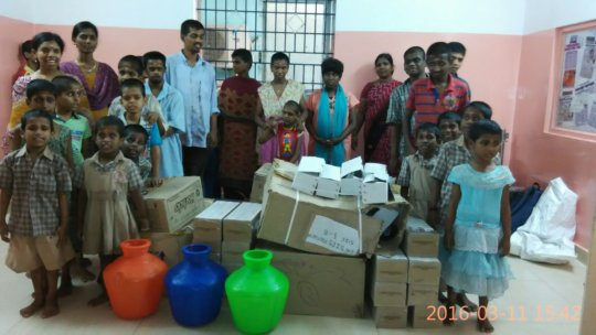 Donated items to Good Life Orphanage