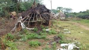 Damaged during floods