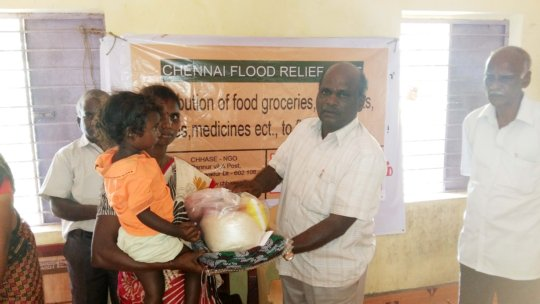 Emergency supplies to chennai floods