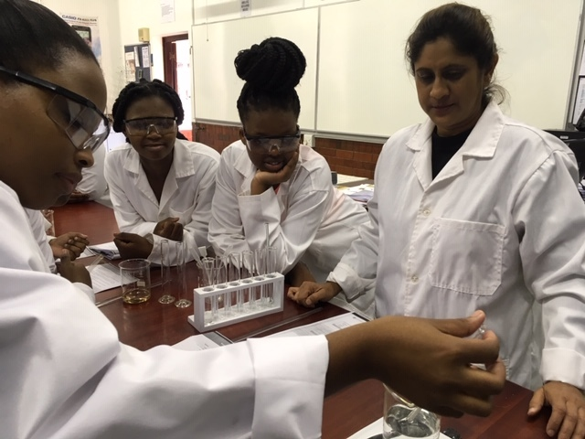 USP Career Bridge Students in the Chemistry Lab