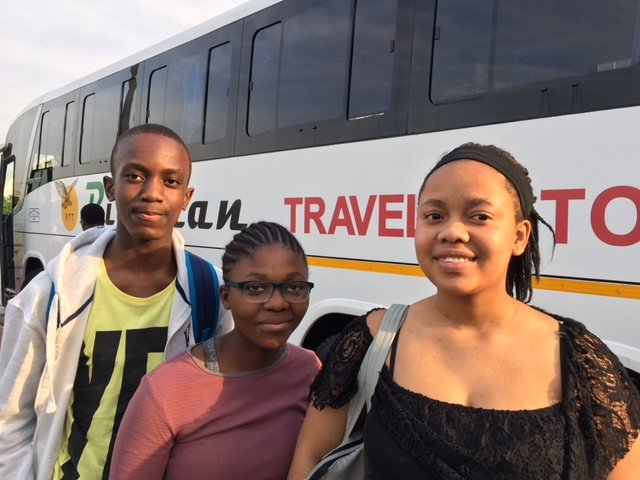 Boarding the Bus to Johannesburg!