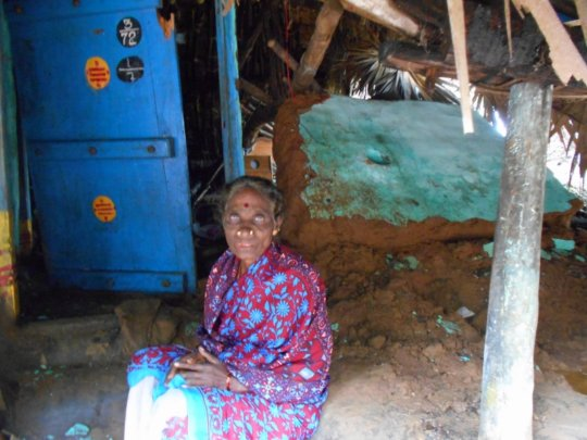 Elderly women still grappling with the damage