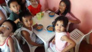 Childhood feeding program at Ark of Noah