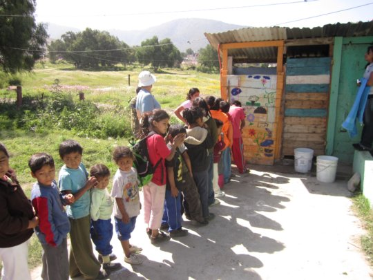 Build a new latrine for 200 students in Mexico