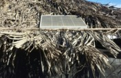 Solar panel=clean energy for an indigenous villag