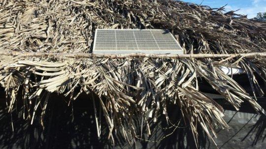 Solar panel=clean energy for an indigenous villag