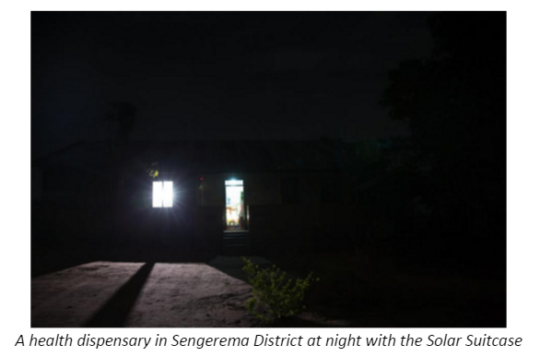 Health Dispensary in Sengerama with Solar Suitcase
