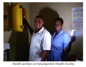 Kasungamile Health Facility health workers