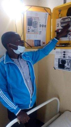 Midwife at the Buzilasoga Health Center