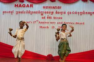 Traditional Cambodian dances performed at party