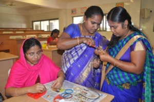 BENEFICIARIES SERIOUSLY VIEWING CRAFT