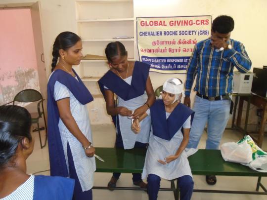 FIRST AID TRAINING THRO GIRLS PEERS