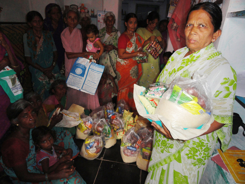 Provide Groceries for Poor Elderly Person in India