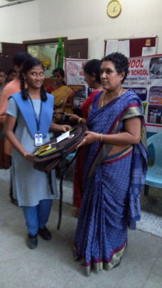 School bags distributed to girls