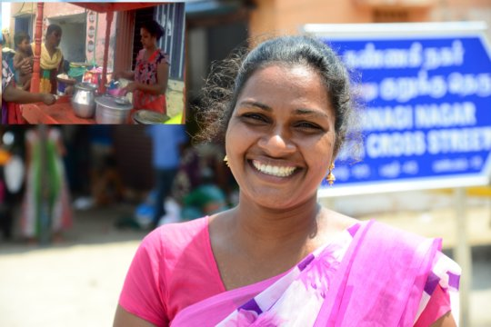 Jayanthi Single women given support