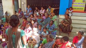 Slum women's meeting