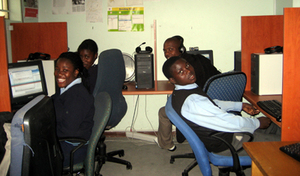Computer lessons at Alex Ark