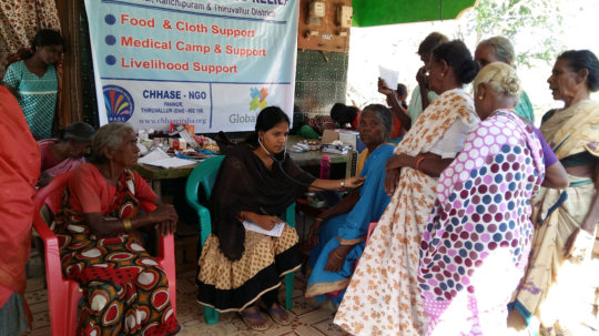 Medical camp and medicines to flood victims