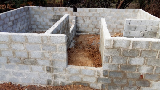 Construction of houses on progress
