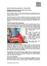 November 2009 update report (PDF)
