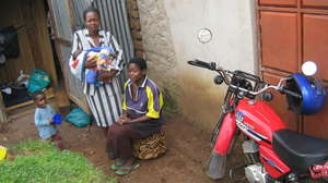 Family reached by a health worker in Kenya