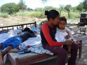 A women and her child in the Chaco region