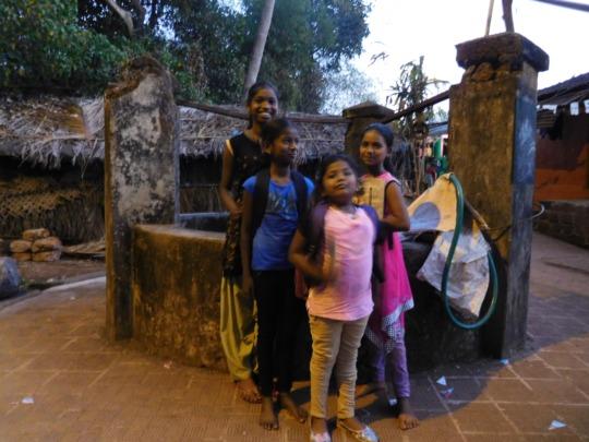 On the village tour