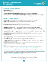 IH Characteristics and Diagnostic Criteria (PDF)