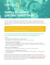 Sleepy Student HINT Flyer (PDF)