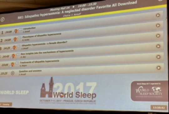 Hypersomnia symposium at the WSC