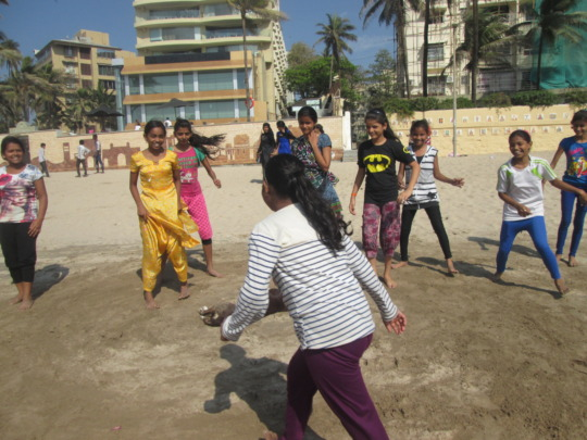 Girls accessing open space for outdoor sports