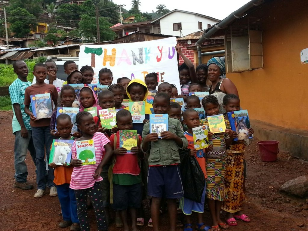 The children were delighted to receive the books