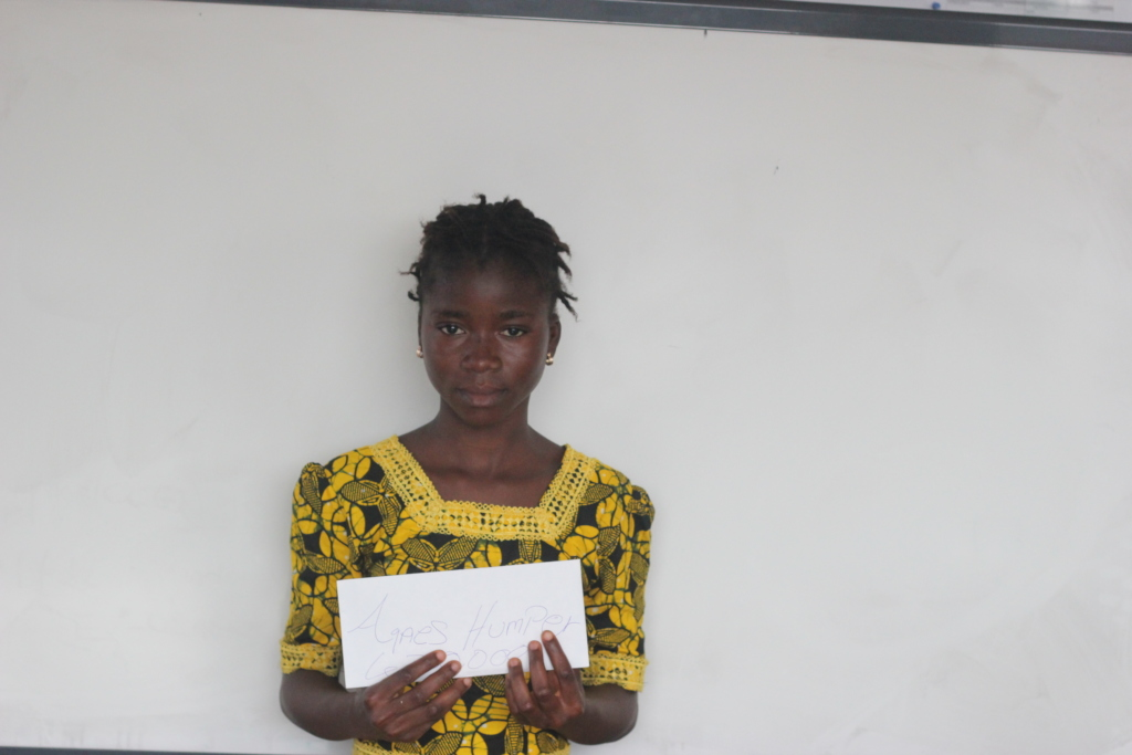 Agnes is one of the scholarship recipients