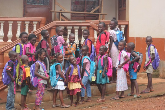 Children looking forward to returning to school
