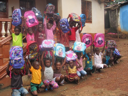 Children inspired by your gift of school supplies