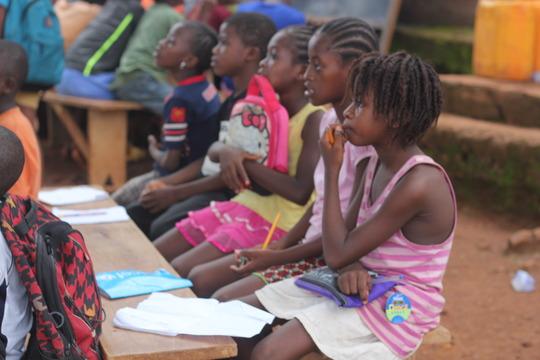 Children listening attentively
