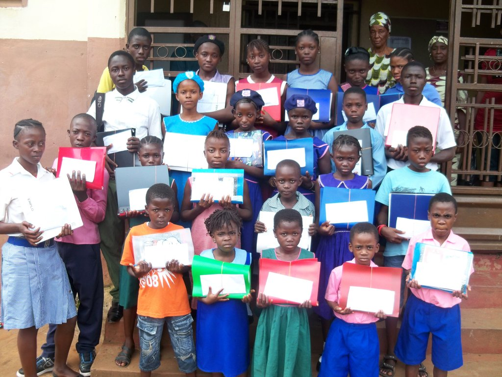 Group of excited scholarship beneficiaries