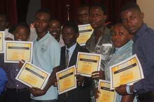 Trainees with certificates