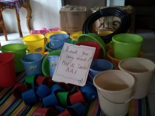 AAI bowls and hoses for clean water and meals