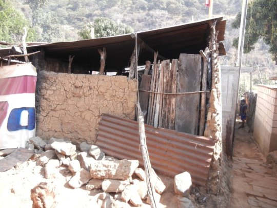 The second home to be rebuilt with bajareque