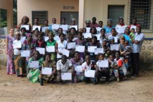 CHWs after completing their training