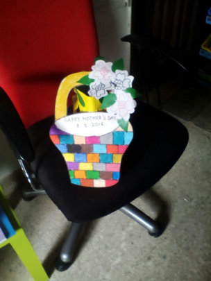 Asyraf's gift for his mother