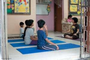 Yoga class for children