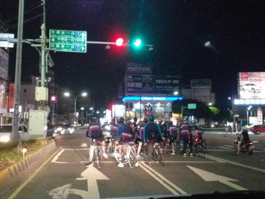 biking till night