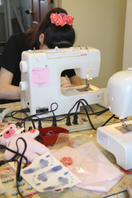 The course on sewing for minor unwed mothers