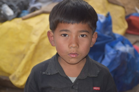 Warm blankets for Manoj after the earthquake